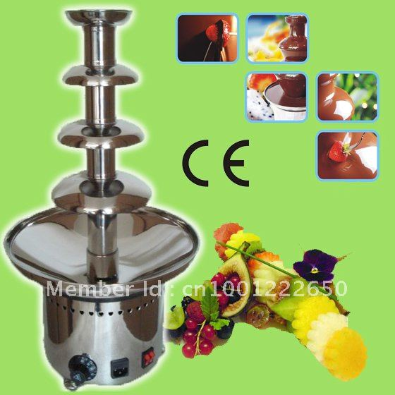 High-end 4 Tiers 60CM Stainless Steel Electric Commercial Chocolate Fountain Free Shipping!! Quality Absolutely Guaranteed