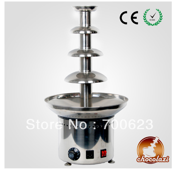 """CHOCOLAZI ANT-8060 Auger 4 tiers 23.5"""" Commercial chocolate fountain New 304 Stainless Steel,1 y ear guarantee (Free shipping)"""