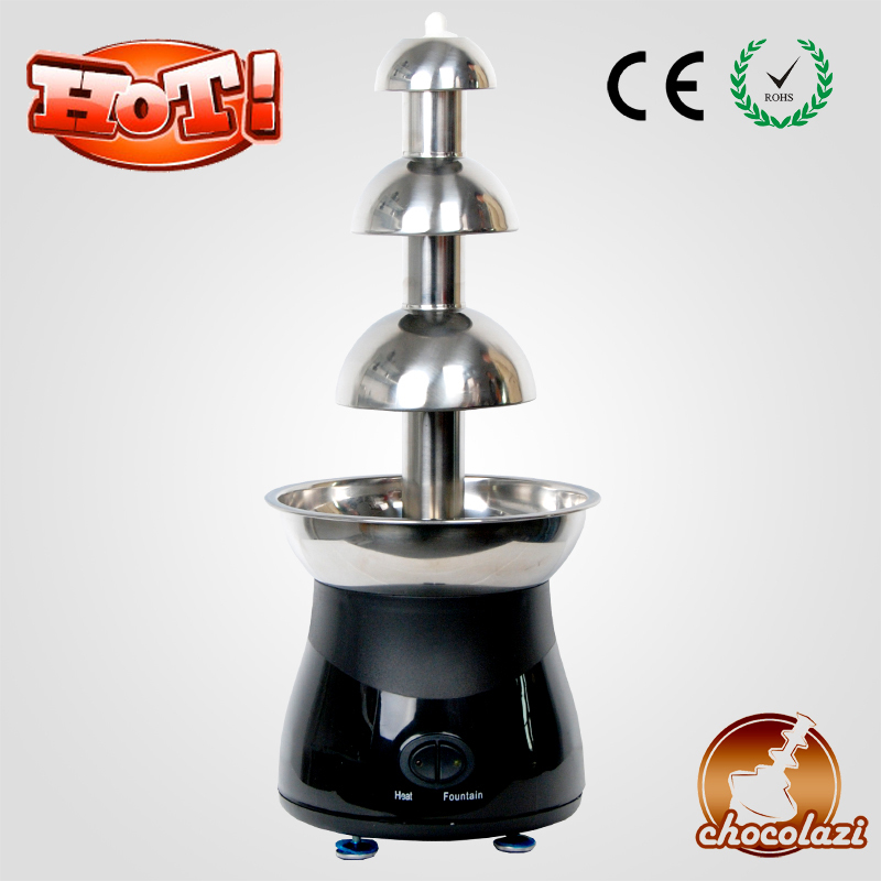 CHOCOLAZI ANT-8050 Auger 3 Layers Stainless Steel Large Battery Home Chocolate Fountain Machine Prices