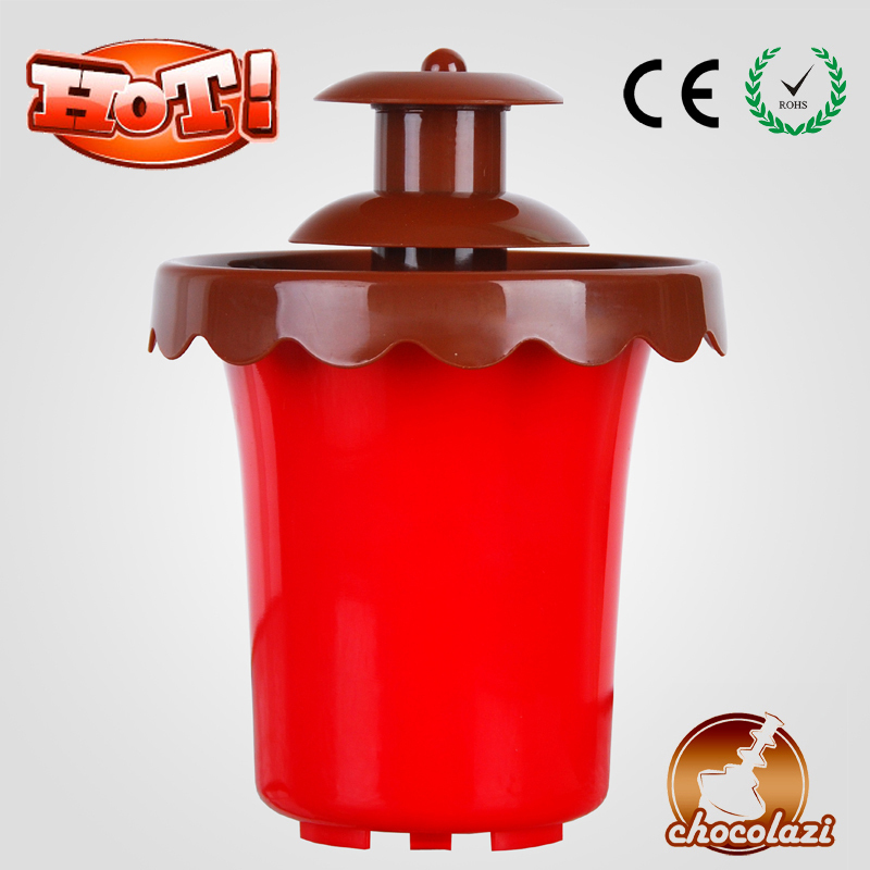 CHOCOLAZI ANT-8018 Auger 2 Layers Battery Promotional Chocolate Fountain Machine Prices