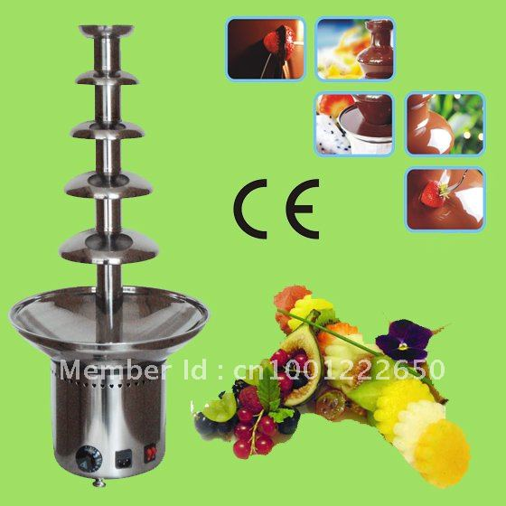 5 Tiers 80CM Stainless Steel Commercial Chocolate Fondue Fountain Maker Free Shipping!! Quality Absolutely Guaranteed