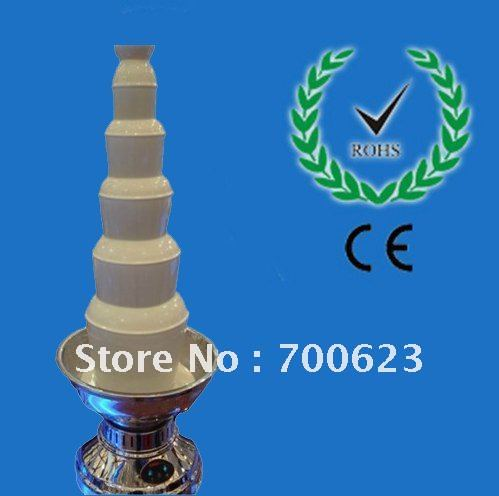 6 Tiers 1000CM Stainless Steel Chocolate Fountain Free Shipping