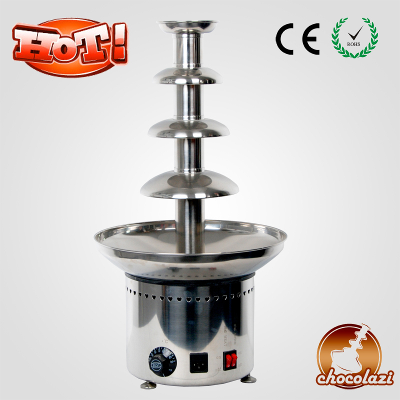 CHOCOLAZI ANT-8060 Auger Stainless Steel Large Battery Commercial Chocolate Fountain Machine Prices