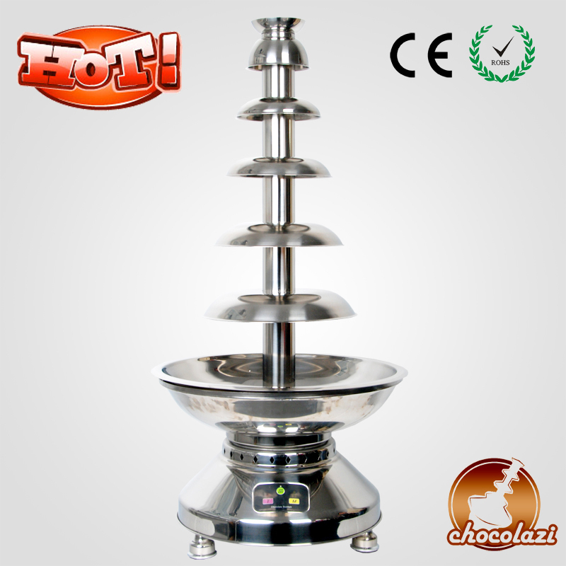 CHOCOLAZI ANT-8110 Auger Stainless Steel Large Battery Commercial Chocolate Fountain Machine Prices