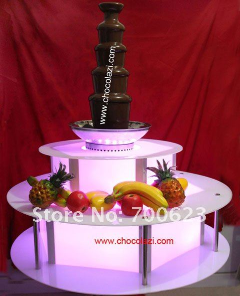 Lighting Illuminated base for commercial chocolate fountains,Remote control Arcylic