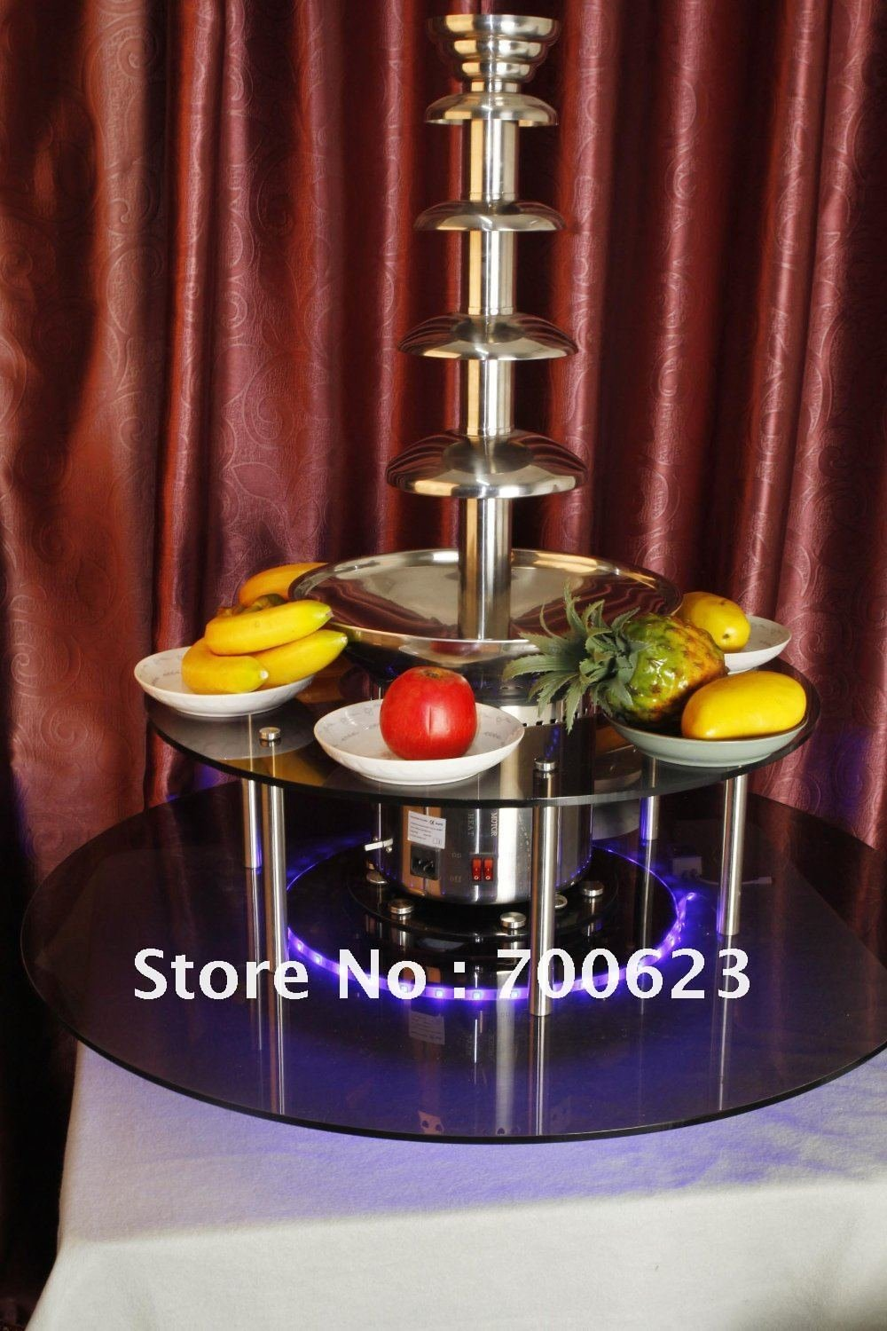 Rotatable New surround Led Desk for commercial chocolate fountain (ANT-8245)