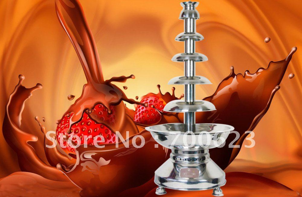 "39.5"" 100cm,6 tiers,High-tech Commercial Chocolate fountain (100cm),Free shipping"