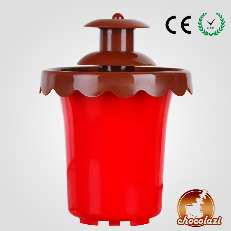 CHOCOLAZI ANT-8018 Auger Free Shipping  2 Layers Battery Promotional Chocolate Fountain on Sale