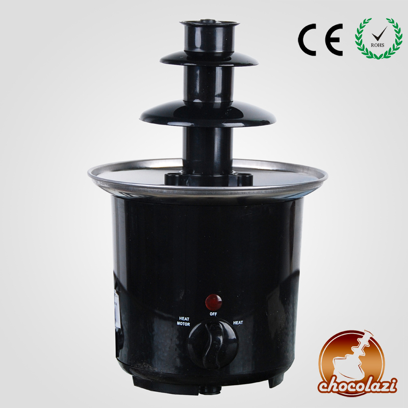 CHOCOLAZI ANT-8020 Auger 3 Layers Free Shipping Home Stainless Steel Chocolate Fountain Machine