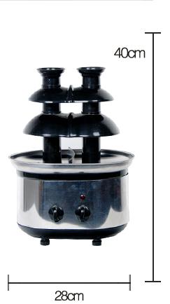 CHOCOLAZI ANT-8050B Auger 3 Tiers Home Chocolate Fountain Machine