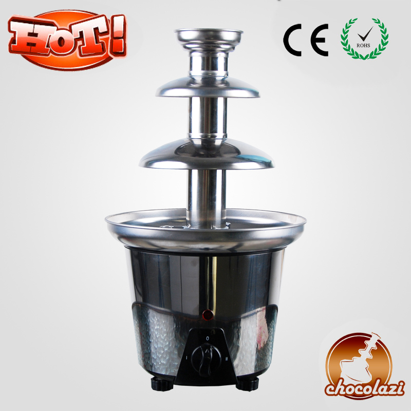 CHOCOLAZI ANT-8030 Auger 3 Layers Stainless Steel Free Shipping Large  Home Stainless Steel Chocolate Fountain Machine