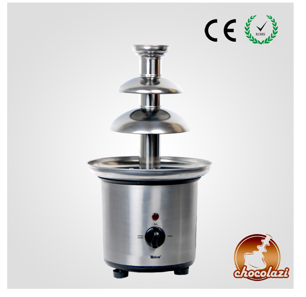 CHOCOLAZI ANT-8040 Auger 3 Tiers Home Stainless Steel Chocolate Fountain Machine