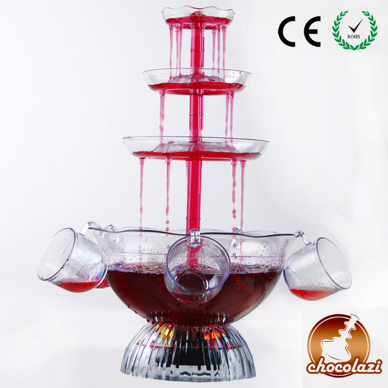 CHOCOLAZI ANT-8010 3 Layers Free Shipping Party Cocktail Wine Fountain