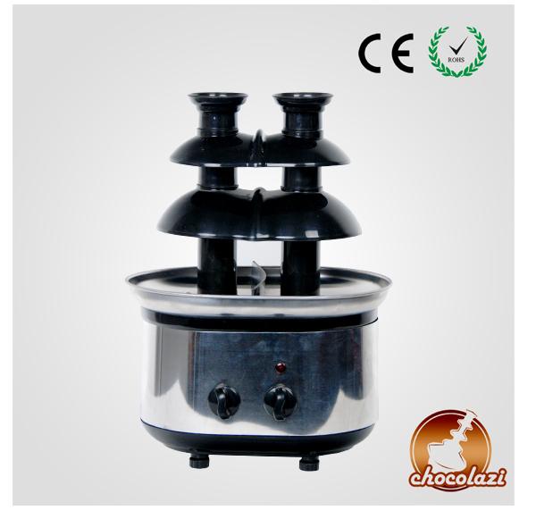 CHOCOLAZI ANT-8050B Auger 3 Tiers Chocolate Fondue Fountain Maker