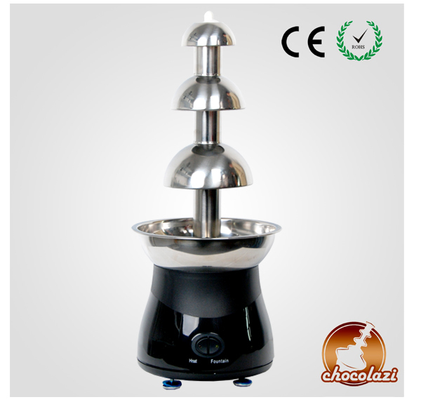 CHOCOLAZI ANT-8050 Auger 3 Tiers Home Stainless Steel Chocolate Fountain Machine