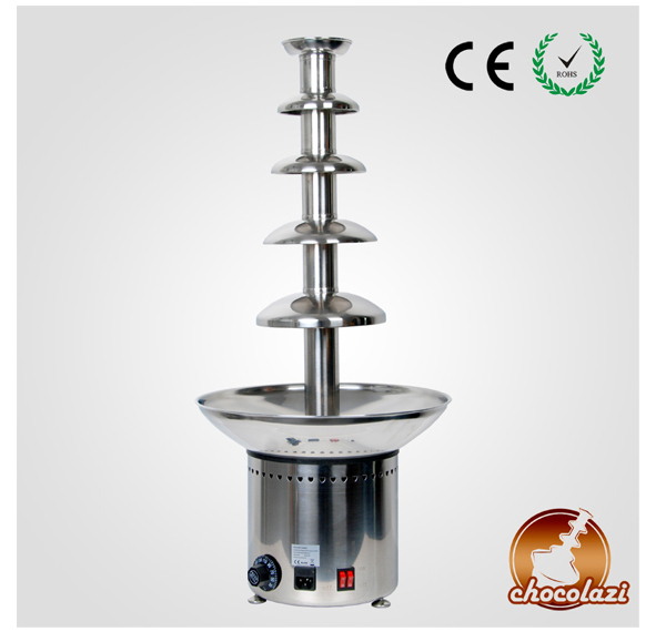 CHOCOLAZI ANT-8086 Auger 5 Tiers Stainless Steel Commercial Chocolate Fondue Fountain Maker