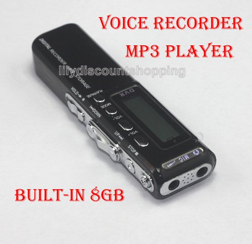 BRAND NEW VOICE ACTIVATED 8GB DIGITAL VOICE RECORDER DICTAPHONE