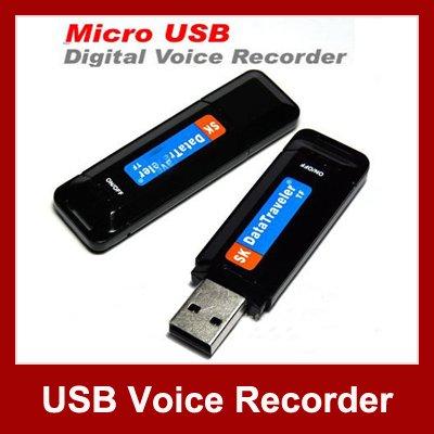 One Button Micro USB Flash Drive Voice Recorder Mini Hidden Audio Recorder