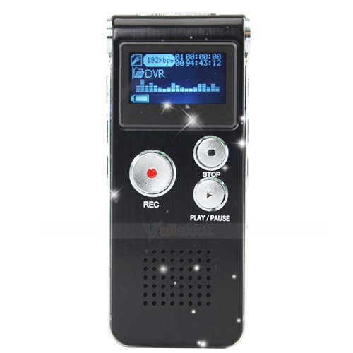 New 8GB 8G Digital Voice Recorder 650Hr Dictaphone MP3 Player Rechargeable Free Shipping