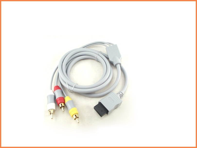 Free Shipping 10pcs/lot  AV Connection Cord Cable TV Television For Nintendo Wii