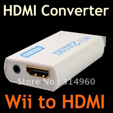 1080P 720P HD Wii to HDMI Wii2HDMI Converter 3.5mm Audio Output Upscaling Adapter Free Shipping