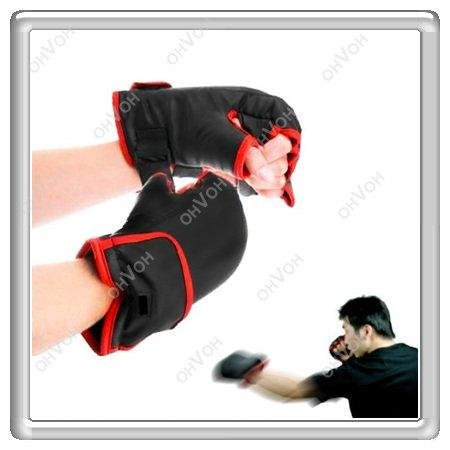 K5M 1 Pair Online Deluxe Games Boxing Gloves Fit Nintendo Wii Remote Controller