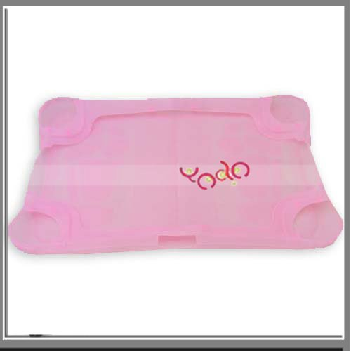 Free Shipping+10pcs/lot  Pink Silicone Case Skin For Wii Fit-VB902PI