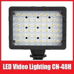 Pro CN-48H 48 LED Light Lamp LED Video Camera Photo Lighting for DSLR / DV Camcorder Lighting, Free Shipping