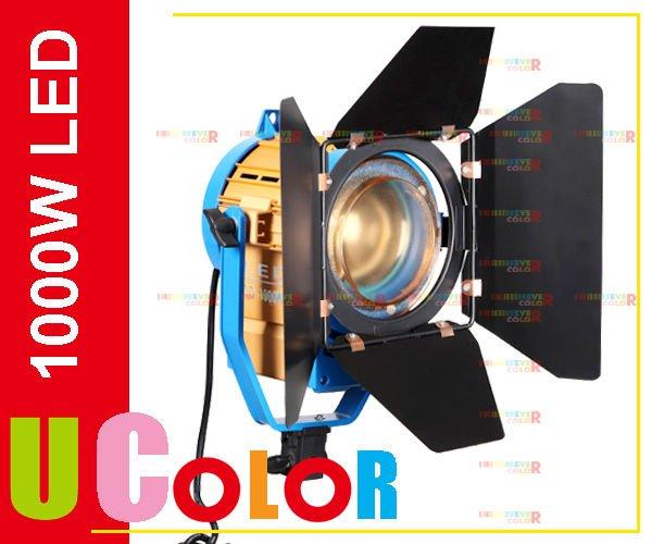New 1000W LED Studio Fresnel Tungsten Spot Light with 3200K - 5500K Dichroic Filter