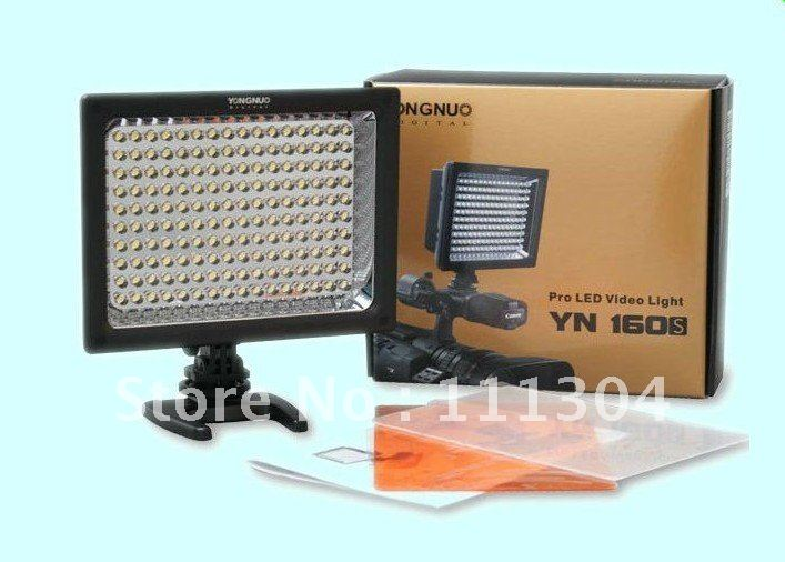 Free Shipping ! YONGNUO YN-160 LED Video Light,LED Camera Light for DSLR Camera /DV Camcorder