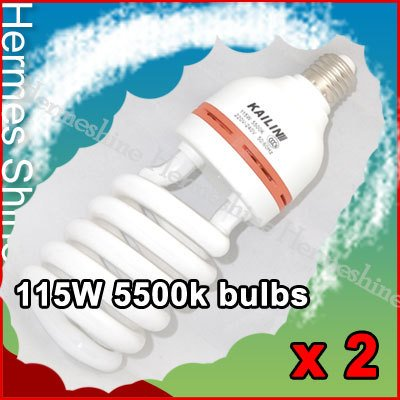 x2 115W 220V 5500K Studio Light Bulb Daylight with E27 Socket [AKT049]
