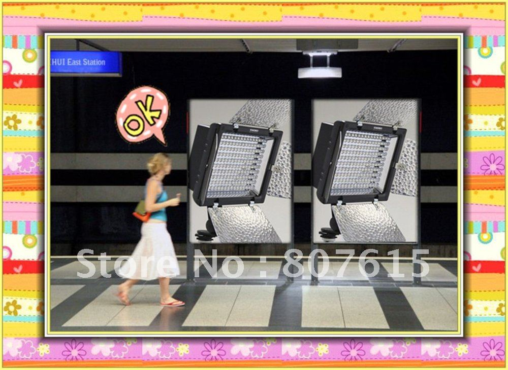 Wholesale YONGNUO YN-160 Led Video Photo Light  Camera Camcorder light with Barn Doors