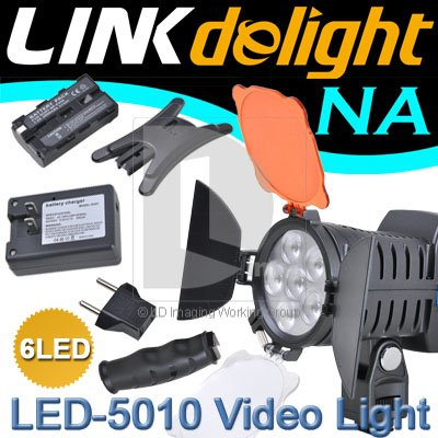 LED-5010 LED Professional  Video Light for DV Camcorder Hot Shoe Lamp PE002Z free shipping