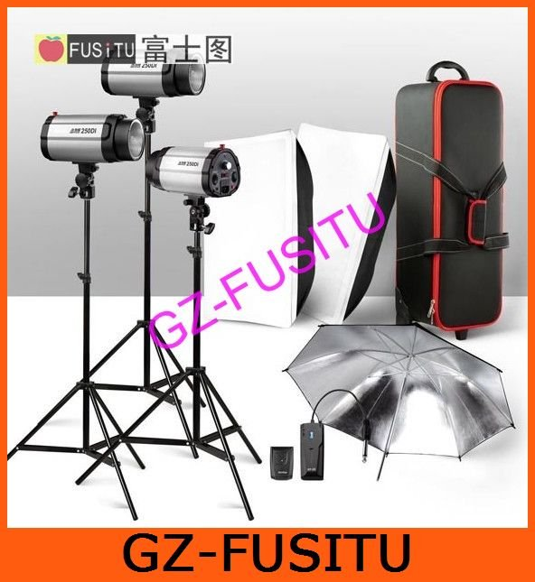 900W STROBE STUDIO FLASH LIGHT KIT LIGHTING SET 3x 300W