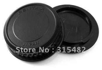 Rear Lens Cover +Camera Body Cap For Pentax pk DSLR