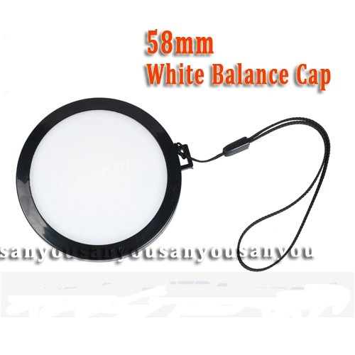 wholesale-58mm White Balance Lens Cap with WB Filter Mount for Digital Camera Filter/Lens