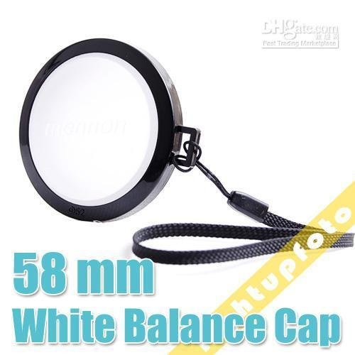 White Balance Lens Cap with WB Filter Mount 58mm PCL3-58