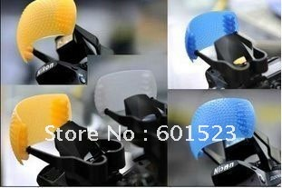 free shipping 1lot/30pcs three colors soft mask Diffusers for SLR cameras and DC with hot shoe