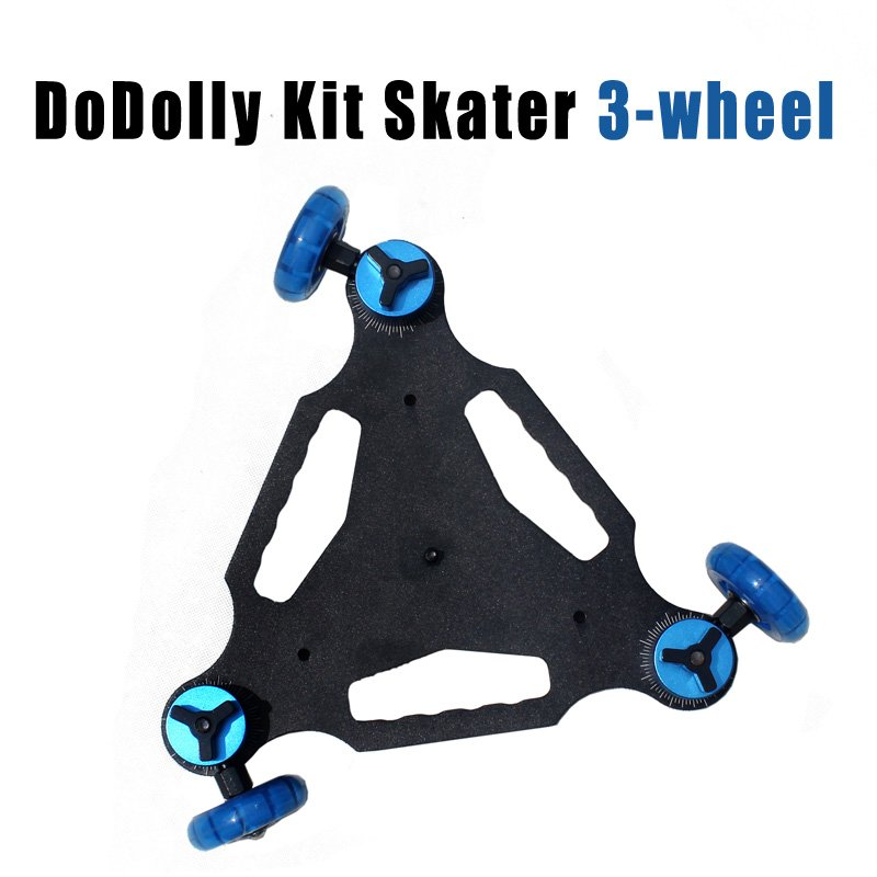 Table Top compact Dolly Kit Skater 3-wheel Camera Truck Stabilizer  for 5D2 DSLR video
