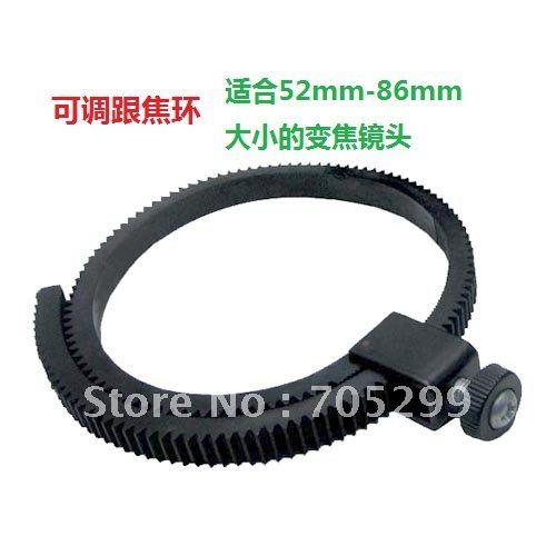 Free shipping Adjustable Lens gear ring follow focus ring for Pro DSLR Kit 5D2/7D/60D/GH1/GH2