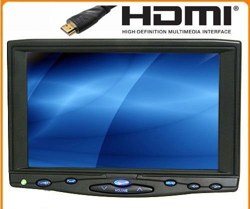 """Free Shipping! 7"""" LCD HDMI Monitor with VGA,AV Inputs Infrared Remote Control+450cd/m2"""