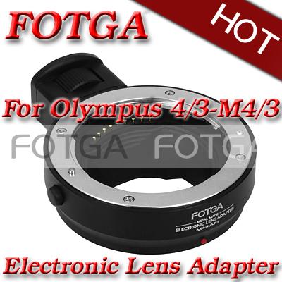 Fotga Metal Electronic Lens Adapter Metal Ring for 4/3 to Micro 4/3 E-P1 G1 GF1+tripod mount adapter