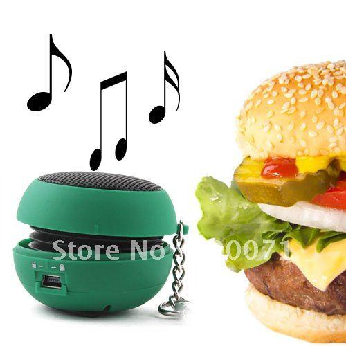 1Pcs/lot Mini Hamburger Portable 3.5MM Speaker  [3351|01|01]