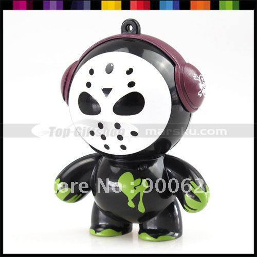 Free shipping / Monster Style Mini speaker / Sound Blasting / Portable USB speaker / Black Sound Box