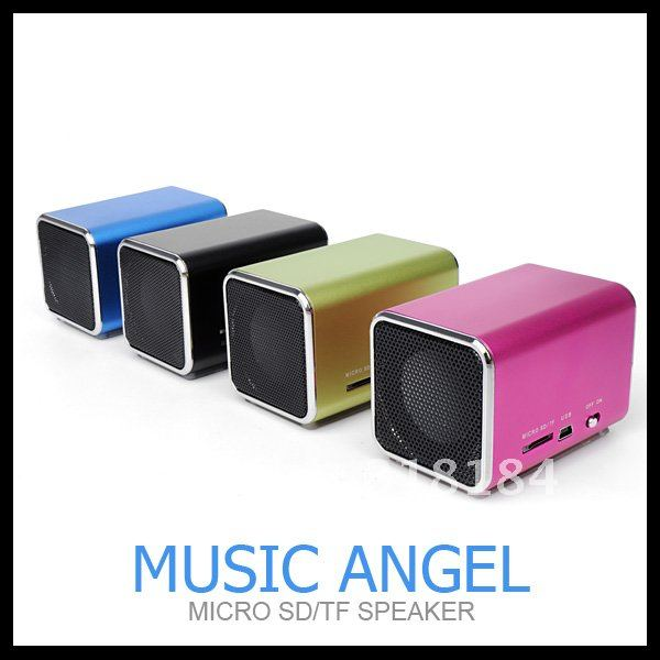 Mini Speaker usb speaker portable with TF card mp3 music player angel speakers MD05 Five Colors free shipping