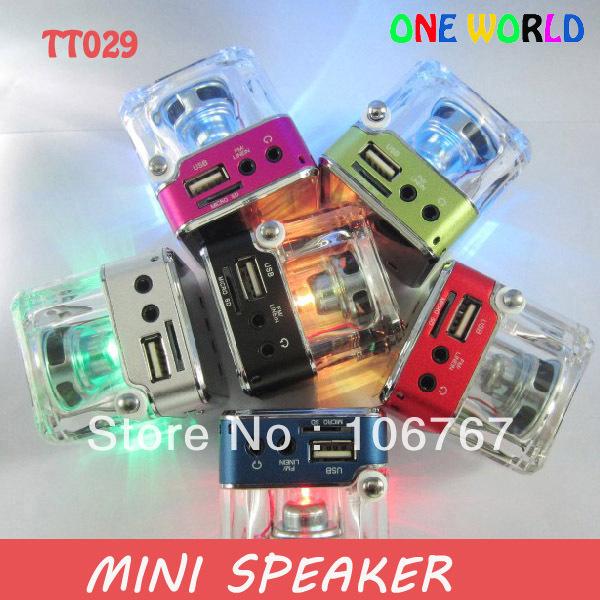 Wholesale - Mini digital sound box speakers with FM radio ( TT029,NiZhi) with 4pc/lot freeshipping