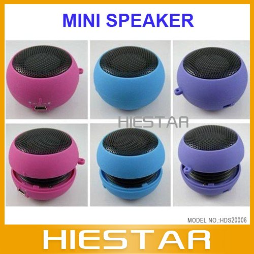 New Mini Hamburger Portable Pocket Speaker For IPhone PC Notebook MP3 MP4