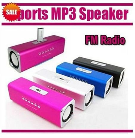 mp3 mini speaker /mini speaker /music box /portable mini speaker Music Angel Sound Box FM Free shipping,for iphone ,for ipad ,