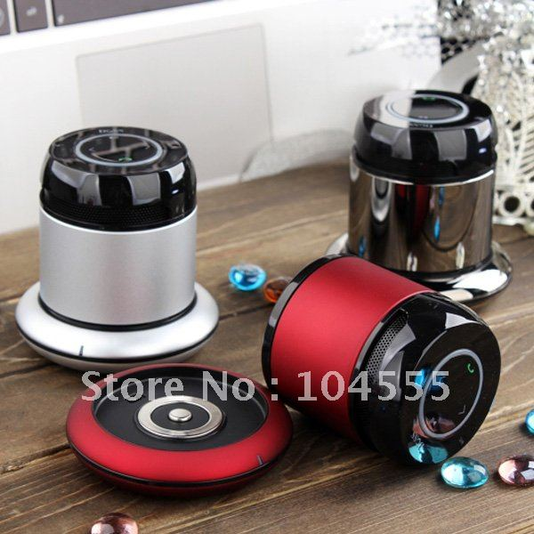Free shipping Hot Bluetooth 2.1 Metal Speaker & Portable Power Adapter for iPhone/iPad/iPod