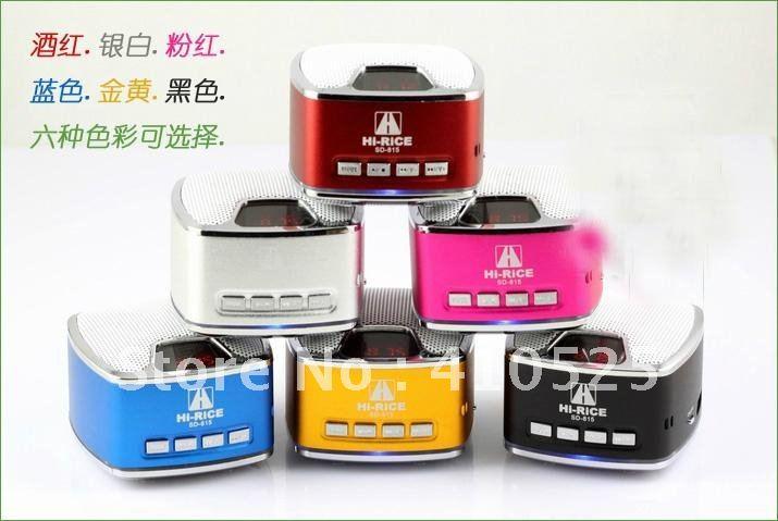 New Original Hi-Rice Mini Speaker Sd-815 TF&USB slot+FM+extra battery